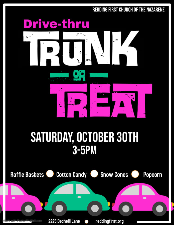 Drive-Thru Trunk or Treat 10/30 from 3-5pm
